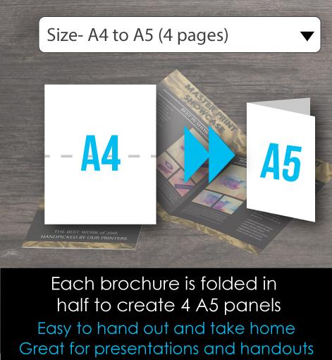 a5 brochure foldedd