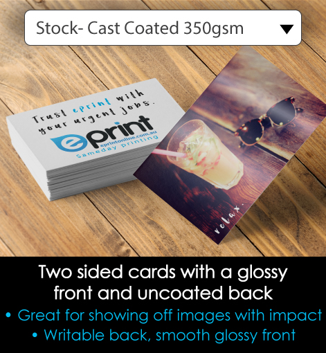 cast coated card description