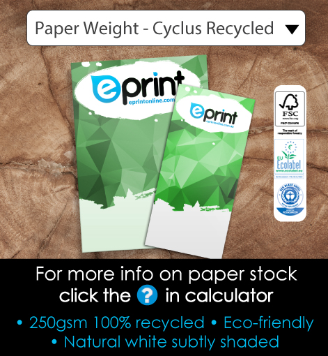 A6 Flyers Recycled Cyclus