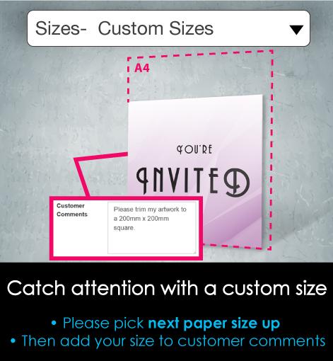 Posters custom sizes