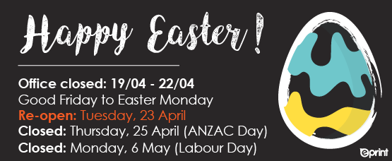 Easter Closedown Notice 2019