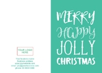 Christmas Card A5 - Typographical