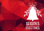 Christmas Card A5 - Bells Abstract