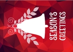 Greeting Postcard- Abstract Bells (Red)