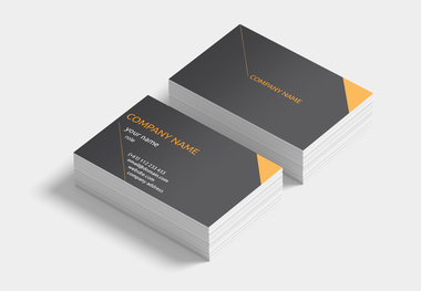 orange diagonal lines card