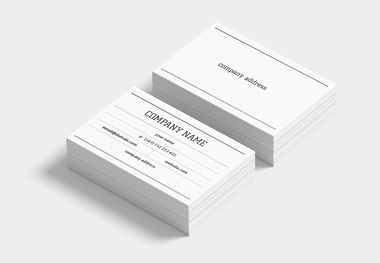 90 x 45 slim line card dotted lines