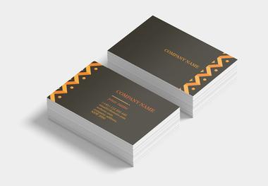 90 x 55 business card ethnic orange