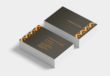90 x 55 business card ethnic orange