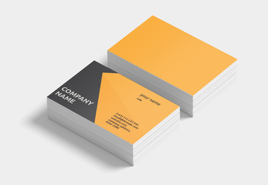 90 x 55 business card abstract orange