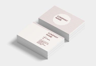 90 x 55 business card polkadots
