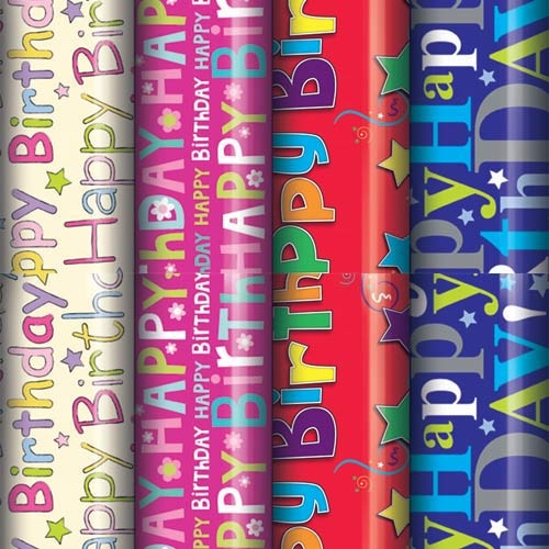 Birthday Gift Wrapping Paper