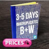 Quadruplicate Books (Approx. 3 - 5 Days) B&W
