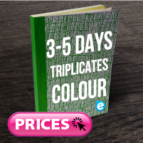 Triplicate Books (Approx. 5 Days) Colour