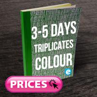 Triplicate Books (3-5 Days) Colour