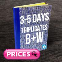Triplicate Books (Approx. 3 - 5 Days) B&W