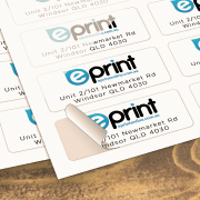 Business Card Stickers Paperback