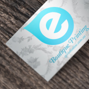 Business Cards 10 Days - : - Spot Silver Ink