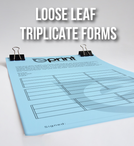 Triplicate Loose Form Sheets