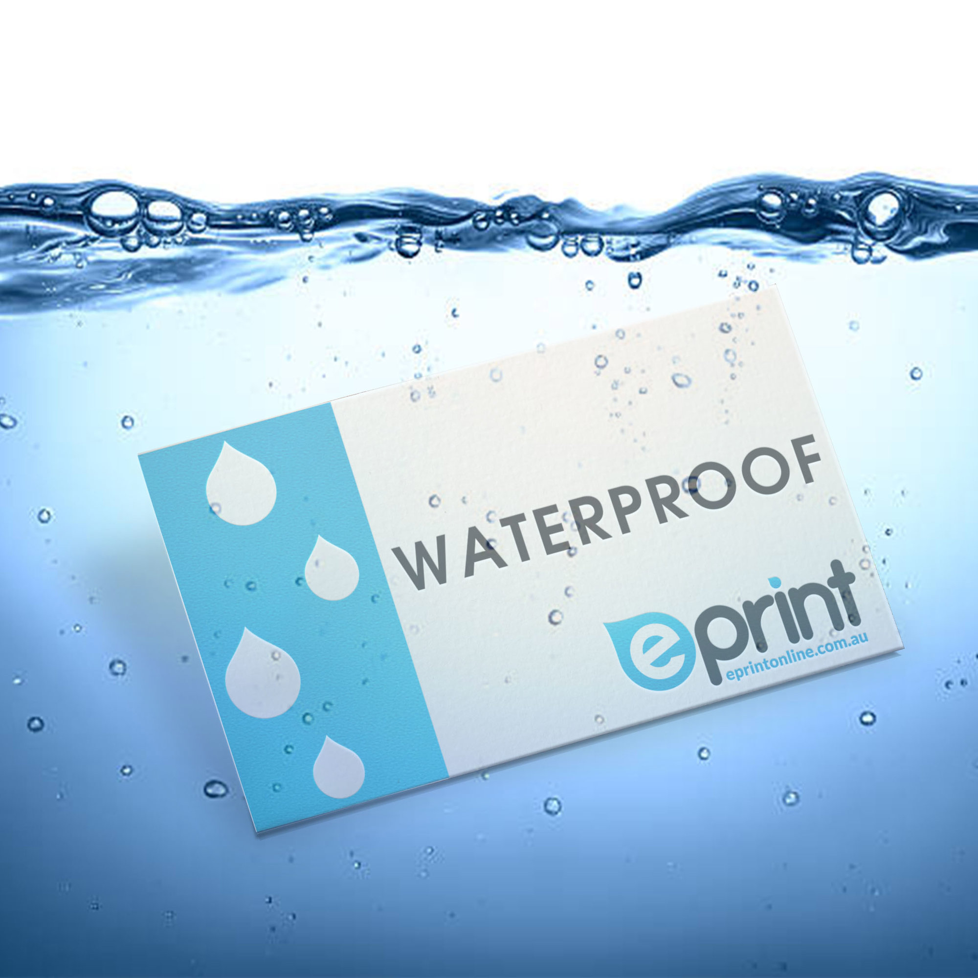 Business Cards Same Day - Waterproof