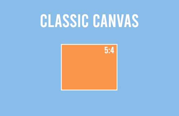 Rectangle Canvas 5:4