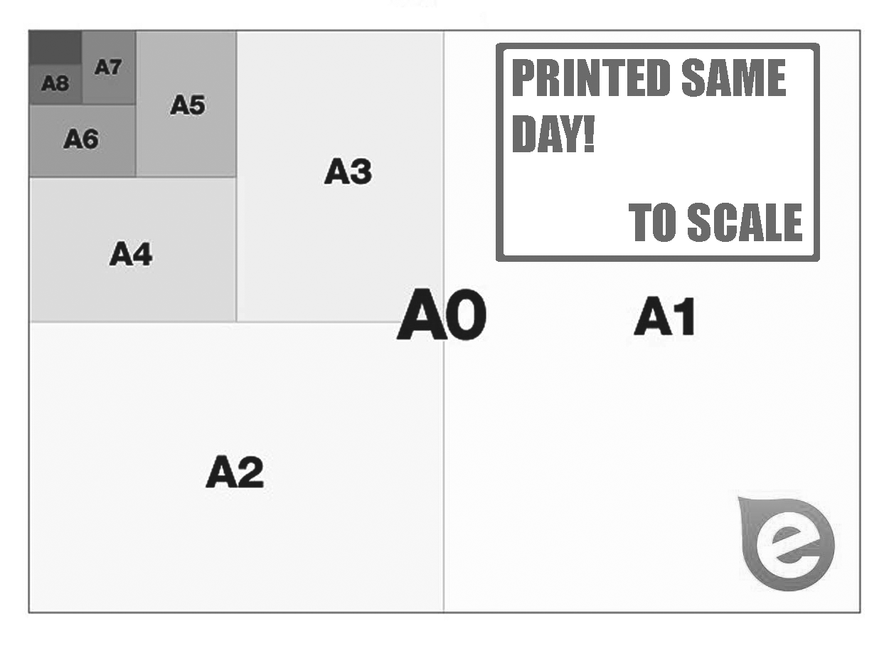 Plan Printing Custom Size (Black & White)
