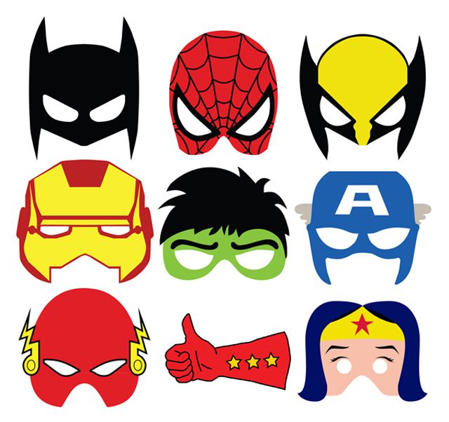 Masks: Character Heads (Die-Cut)