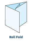Roll Fold - 4 Panel (Score Only - Supplied Flat)