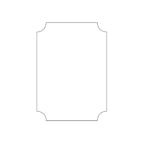Reverse Rounded Edge Rectangle