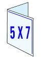 10x7 > 5x7 (half fold)