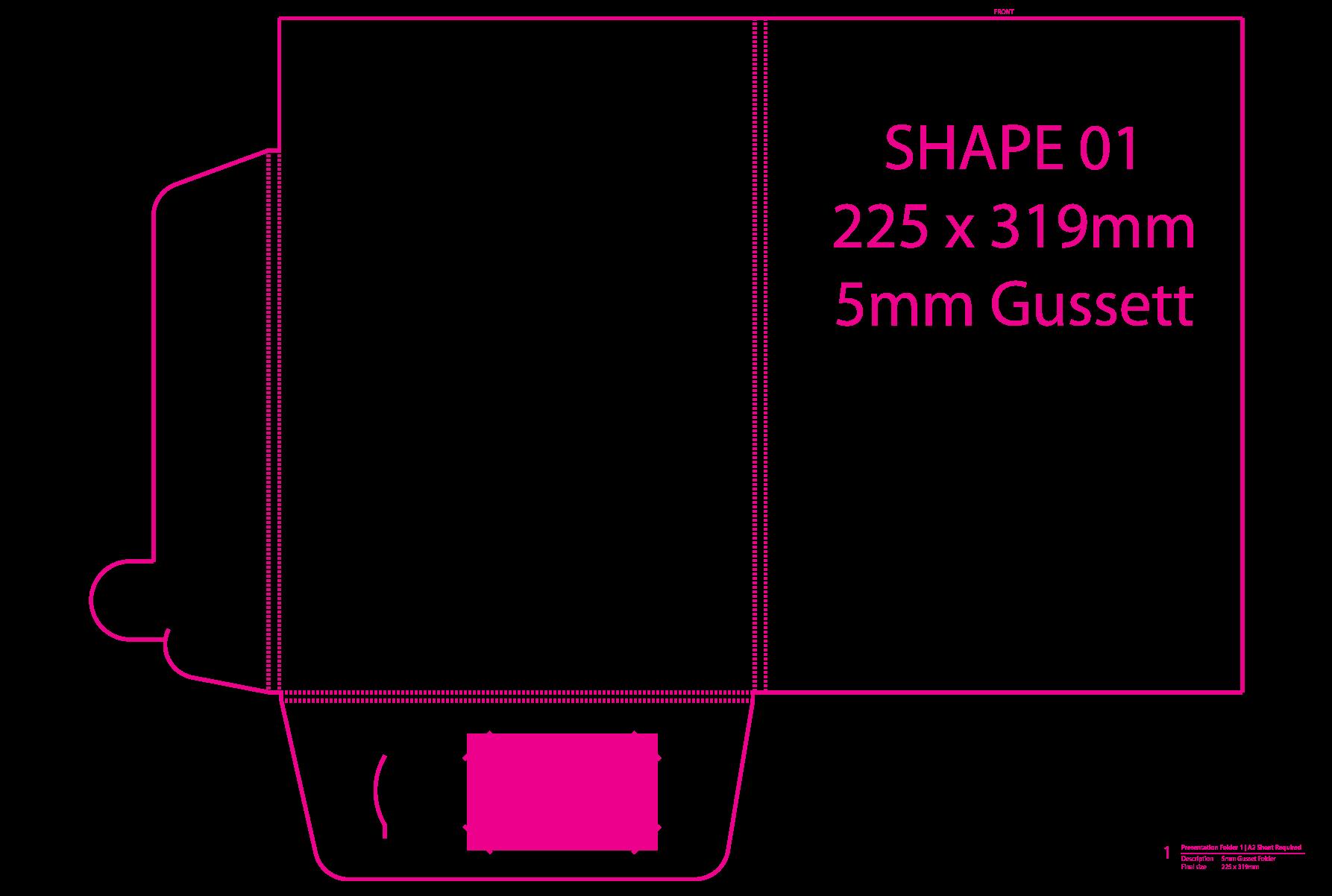 Shape 01 (5mm Gussett)