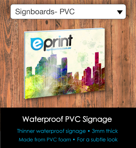 SIgnboards - PVC