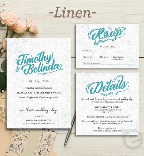 Linen Invitations