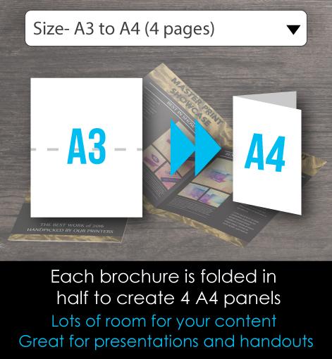 A4 brochure folded