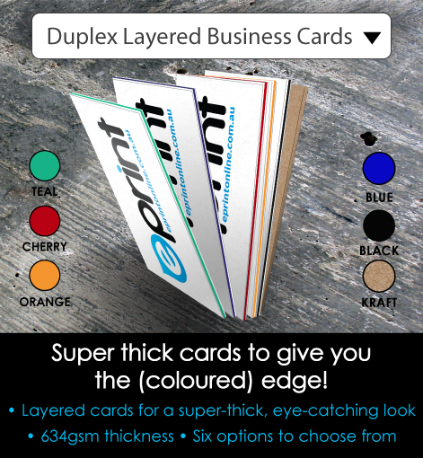 Duplex Business Cards - Description