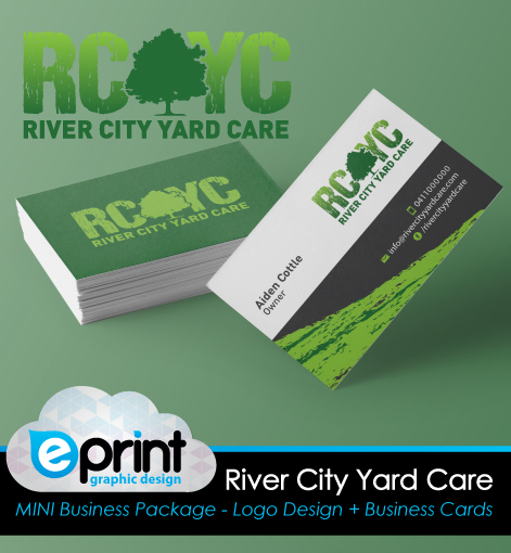 Logo and Business Card Package- River City Yard Care