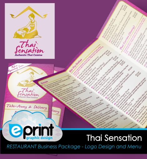 Logo and Takeaway Menu Design- Thai Sensation