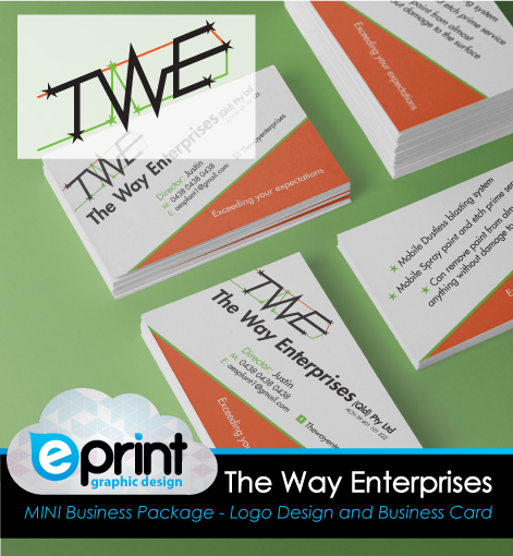 Logo and Business Card Package- The Way Enterprises