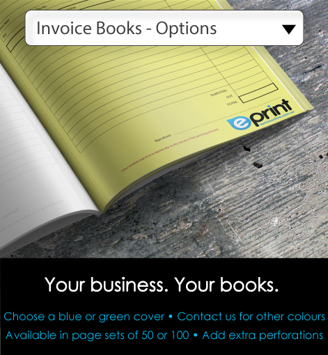 Duplicate Invoice Books - Options