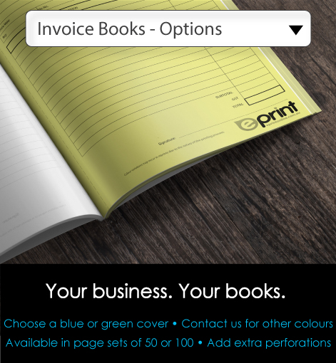 Invoice Books - Options