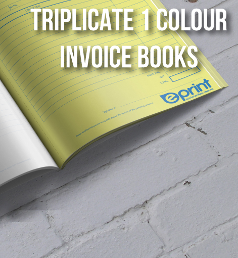 One Colour Pantone Invoice Books