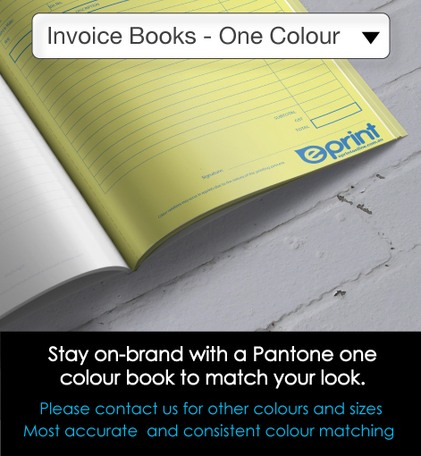 1 Colour Invoice Books Description