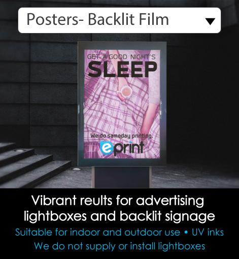 Backlit Display Film Printing