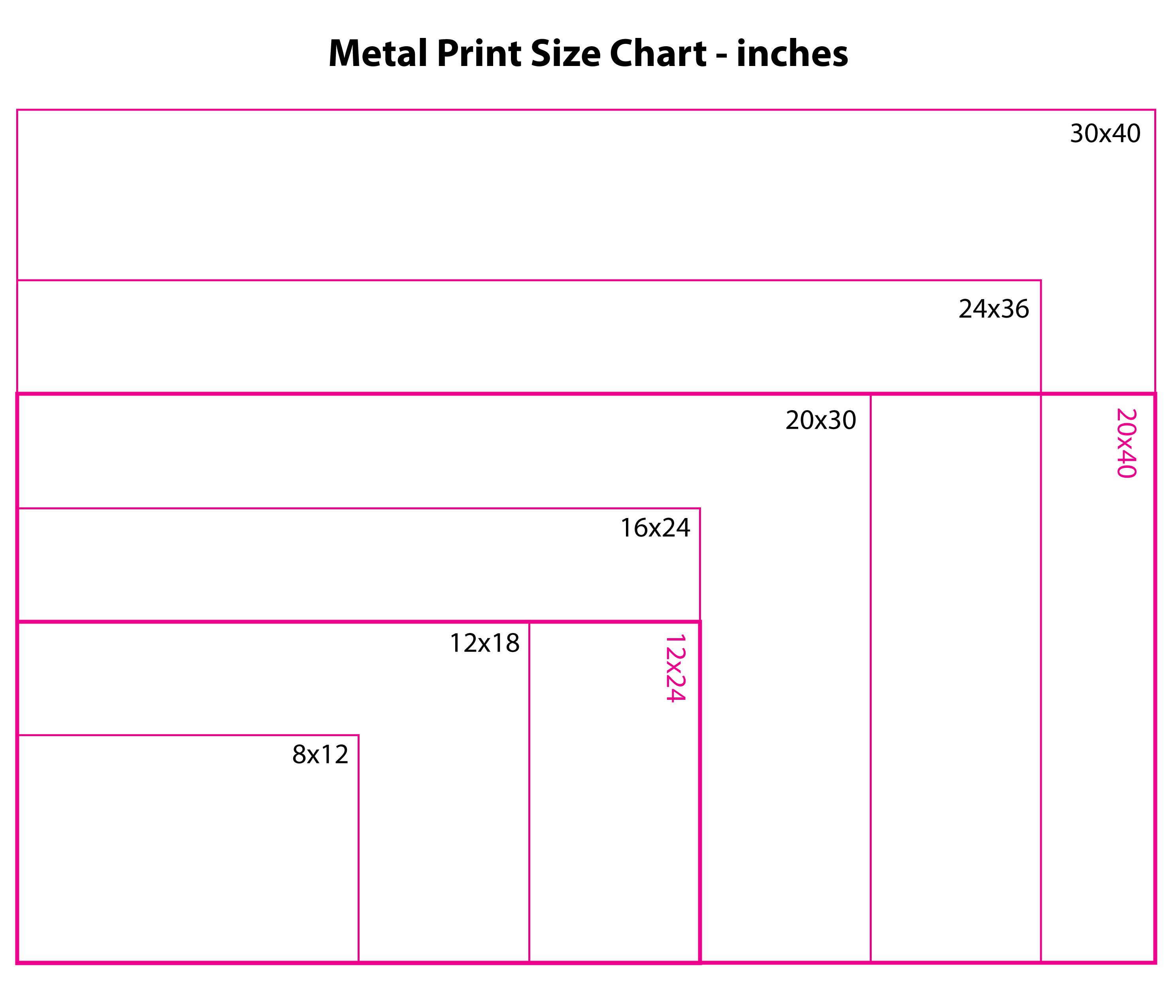 Metal Printing Size