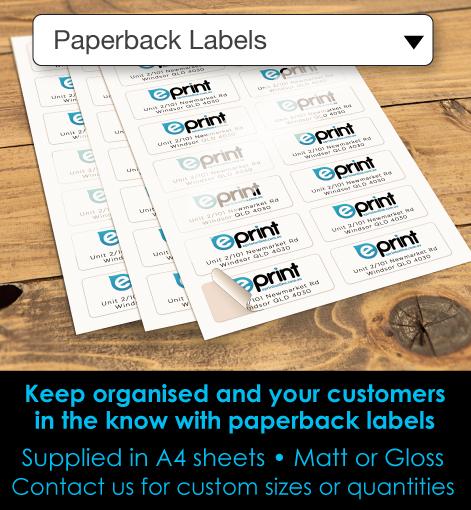 Paperback Labels Description
