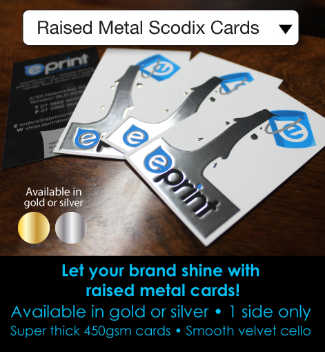 Description- Raised Metal Scodix Superthick cards
