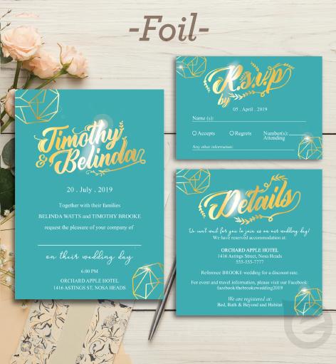 Foil Sample Invitation Printing