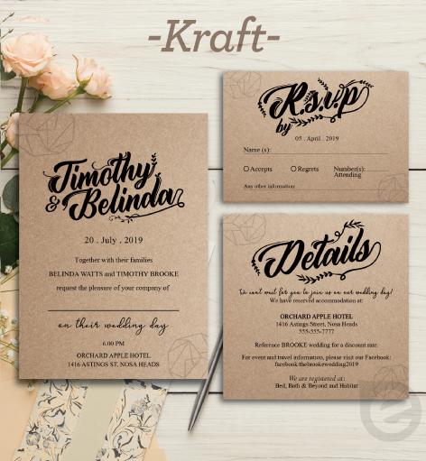 Kraft Invitation Sample Printing