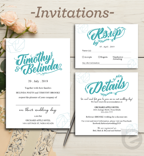 Invitation Sample Printing Brisbane