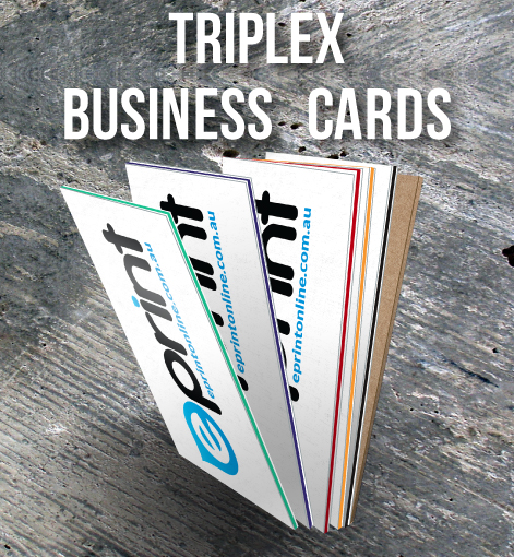 Triplex Business Cards - Feature