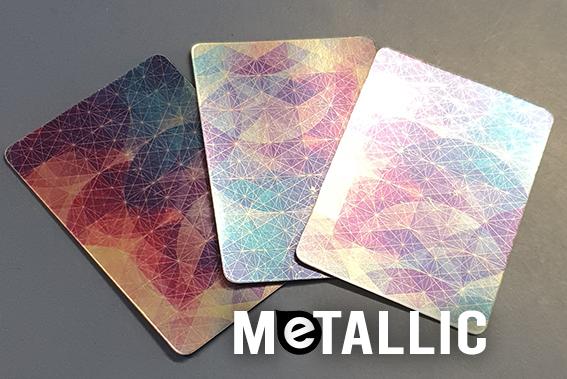 metallic back